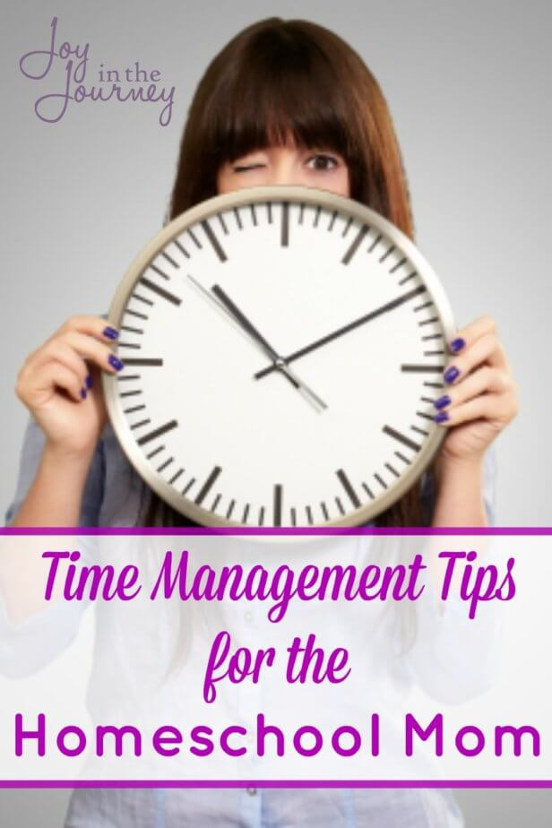 These time management tips for homeschool moms will help YOU have a more productive day. Homeschooling is hard work, and many times parents can be stressed or overwhelmed from too many activities and not enough time.