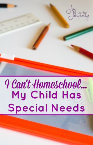 Think you can't homeschool because your child has special needs? One blogger shares 5 reasons why you can homeschool your special needs child! Don't miss #2!