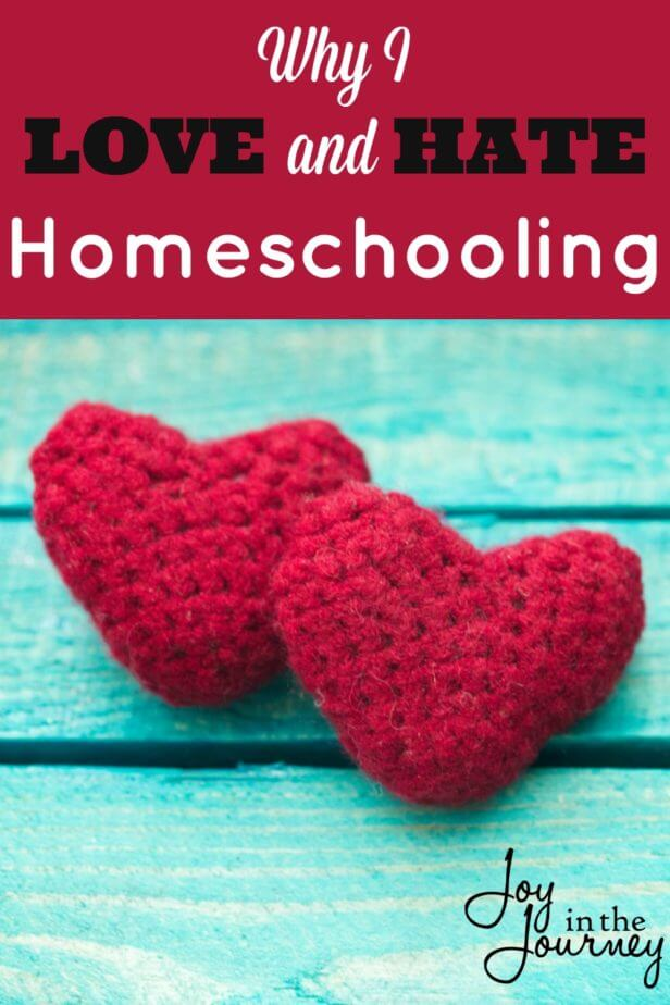 If I'm totally honest with you (and myself) I have a love/hate relationship with homeschooling.