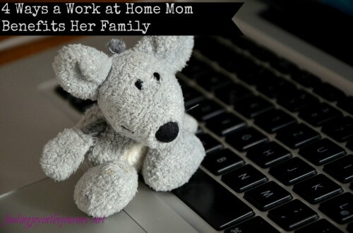 work at home mom benefits her family