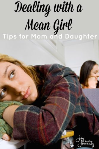 Dealing with a mean girl is a part of life, whether we like it or not. At some point in our lives we have all dealt with one, and unfortunately our daughters will have to as well. But, how do you handle it when the time comes?