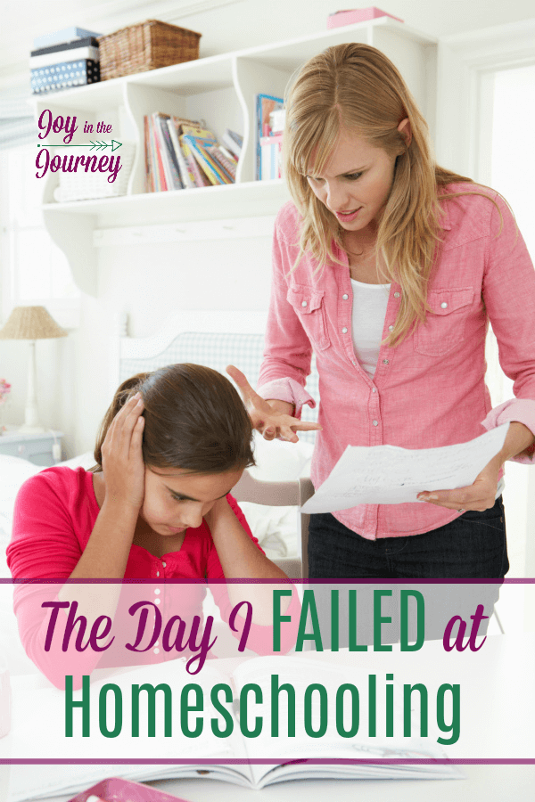 Homeschool failures and mistakes happen, and when they do, don't beat yourself up. If you failed at homeschooling, give yourself grace. Then, make a plan and learn from your failures.