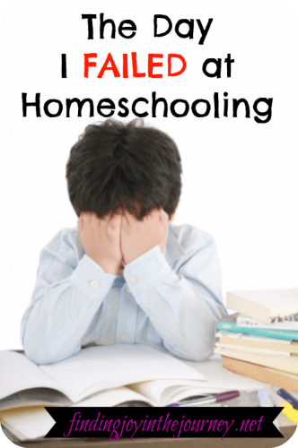 Failed at homeschooling