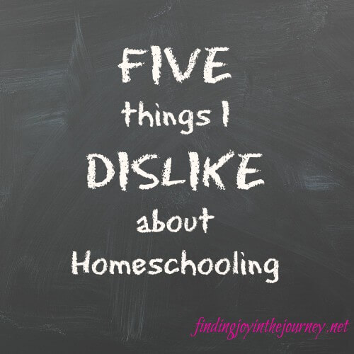 dislike about homeschooling