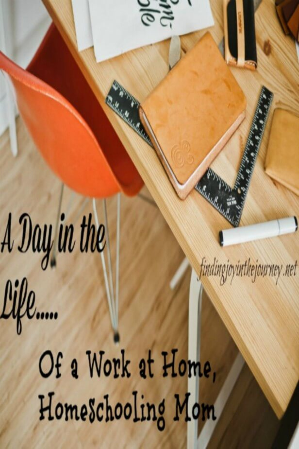 A Day in the Life of a WAH Homeschool Mom PIN
