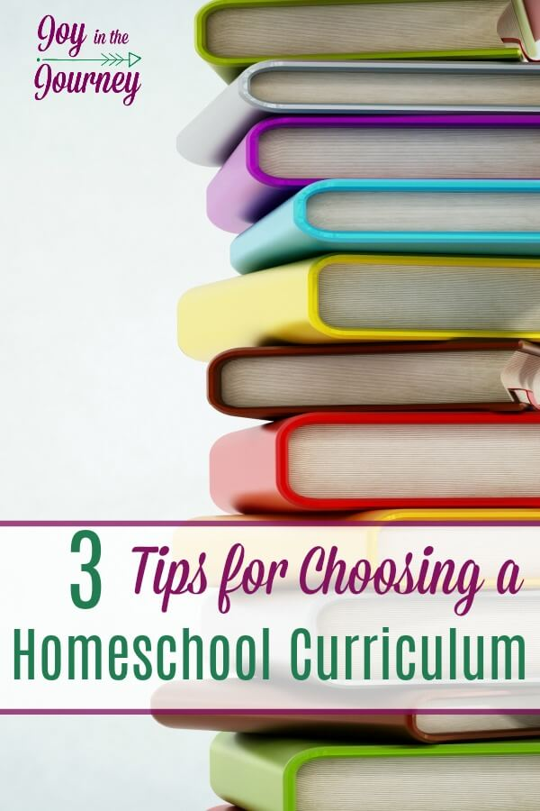 Choosing a homeschool curriculum is one of the best (and worst) parts of homeschooling. Here are 3 tips that are vital to choosing a homeschool curriculum.