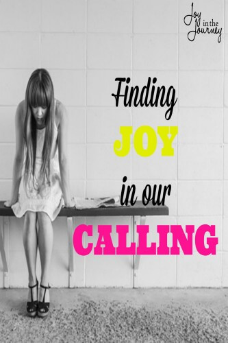 Finding joy in our calling