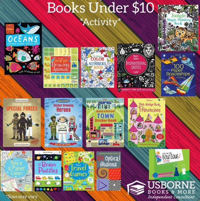 Activity books for vacation, less than $10 a piece!
