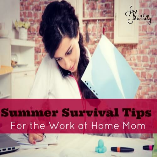 Summer Survival Tips Work at home? Not sure how you are going handle summer? Here are someFREE summer survival tips for work at home moms!