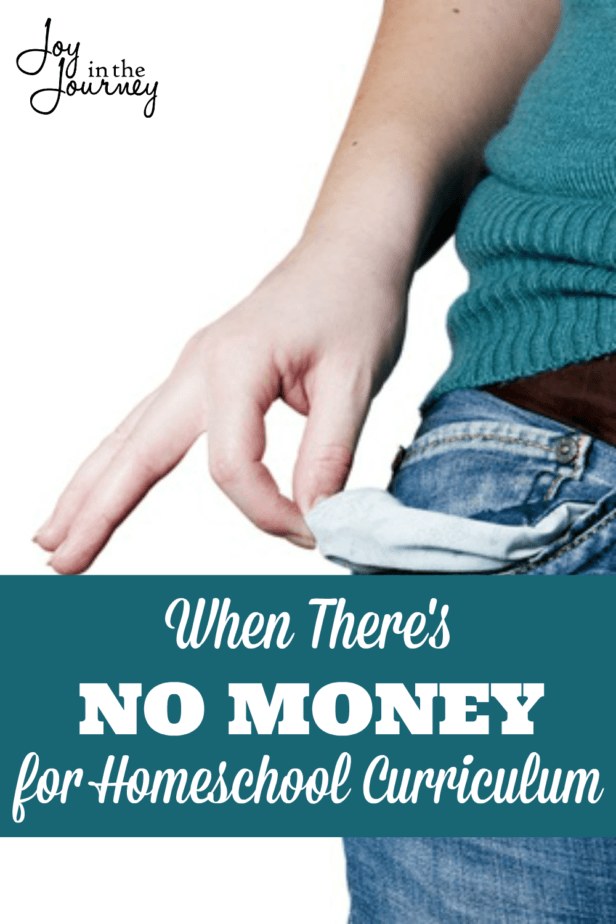 What can you do when there's no money for homeschool curriculum? Here are three things that you can do NOW!
