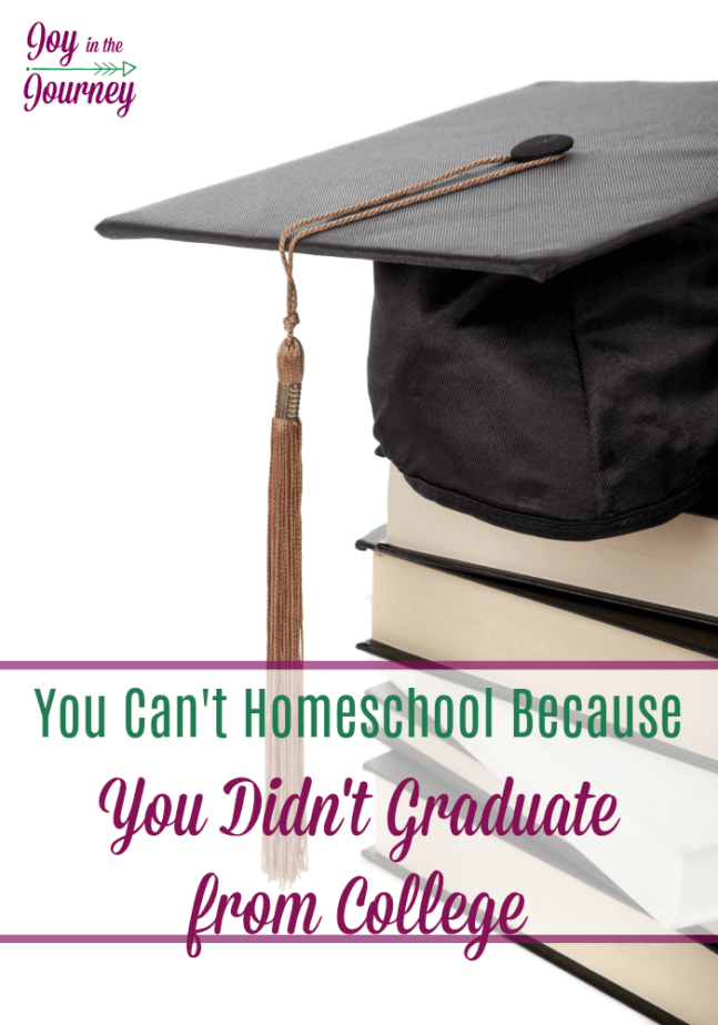 "Have you ever heard, ""You can't homeschool because you didn't graduate college?"". Me too! We examined the statistics and research and were surprised to find that this may be a misconception."