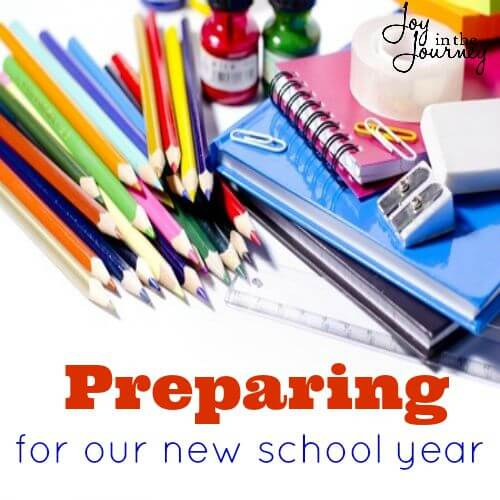 preparing for our new school year