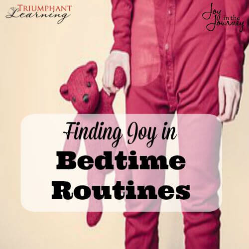 Finding joy in bedtime routines-One mom struggled with bedtime routines, until God spoke to her heart. Learn how she is findingjoy in bedtime routines!
