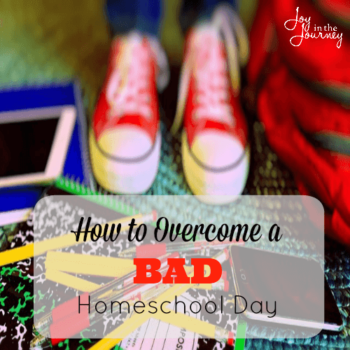 How to Overcome Bad Homeschool Day They had a very bad first day of school, but with these steps they overcame it, and YOU can too! Having a bad day of school doesn't mean the homeschool year will be a failure, choose joy moms and things will get better!