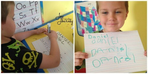 Dry Erase Board for Name Writing Practice