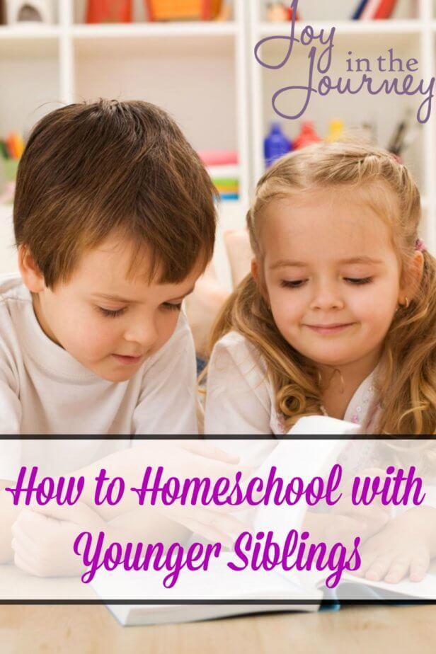 Are you wondering how to homeschool when you have younger siblings around? I get this question a lot! And the answer is different each day. Homeschooling with little ones in tow can be a challenge. Here are some tools I've found that help!