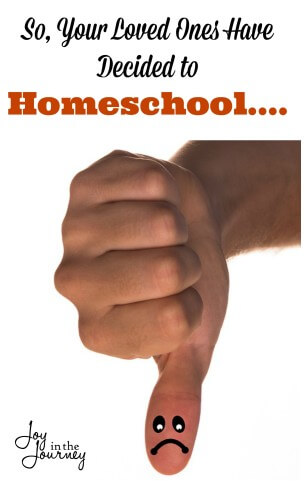 So, Your Loved Ones Have Decided to Homeschool.....