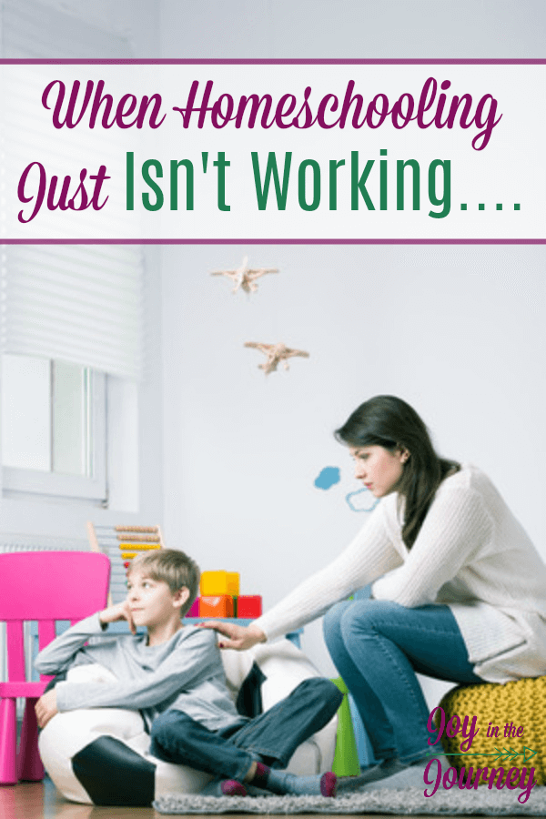 You've given it a shot, but homeschooling just isn't working. What do you do? We are breaking down how to handle what to do when homeschooling is hard.