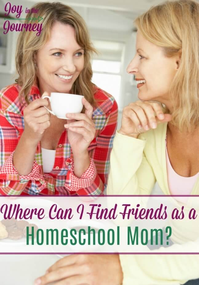 Where can you find friends as a homeschool mom? We are going beyond just showing up at a homeschool co-op and giving you REAL advice and links to help you meet other homeschool moms and find friends who understand what you are going through.