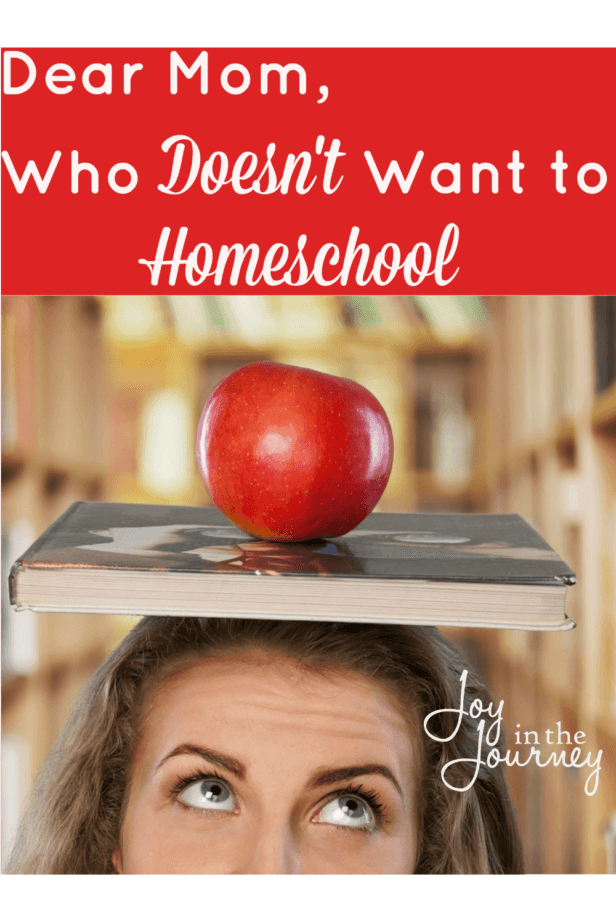 """Dear Mom who does not want to homeschool, I see you. I know how you feel. You like your freedom. You like the way things are. You don't want to be one of """"those"""" people"""