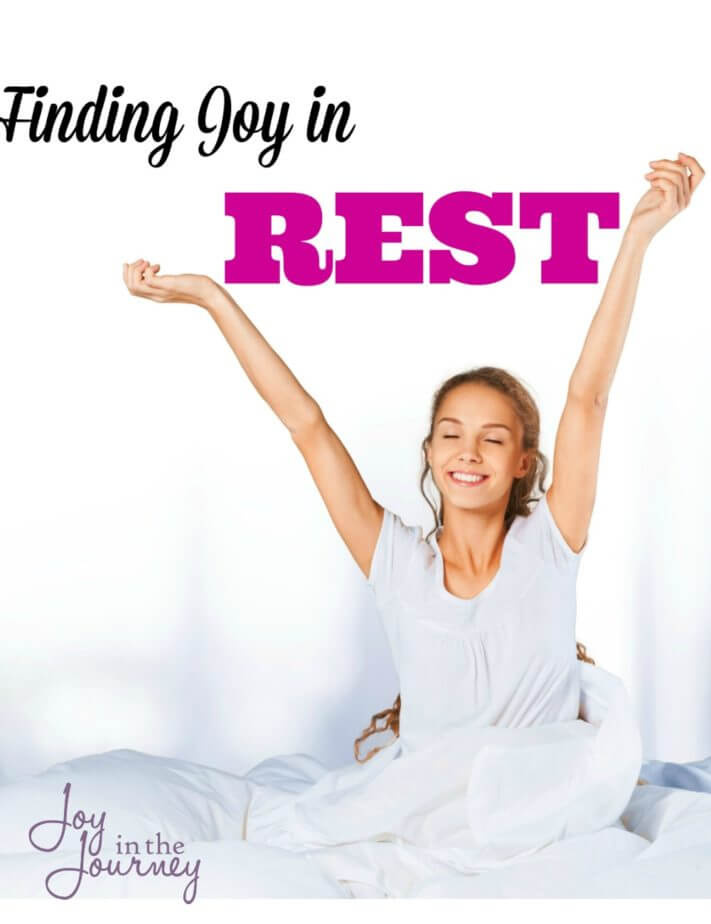 Are you too busy running yourself ragged to take the time to rest? Rest is important and without it we burn ourselves out. Find joy in rest with these simple steps.