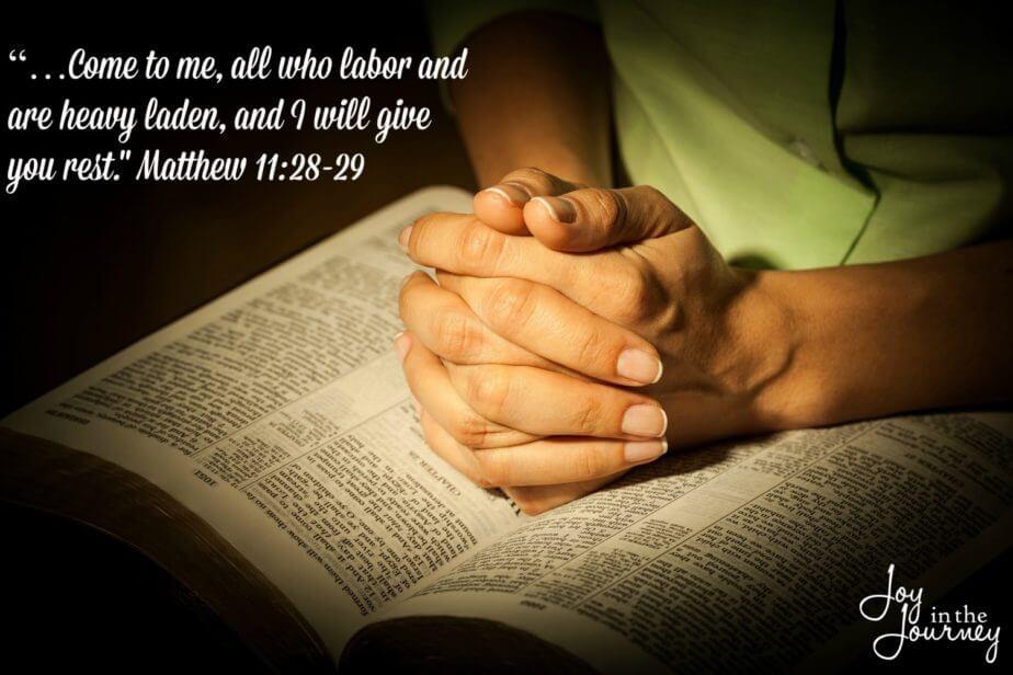 Matthew 11:28-29