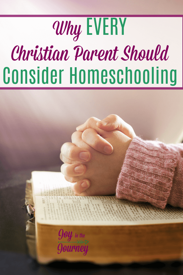 I know not everyone is called to homeschool.However, every Christian parent should spend time on their knees and prayerfully consider homeschooling.