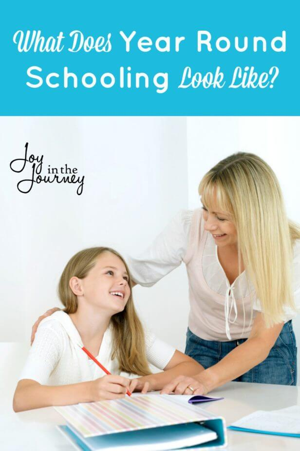 What does year round schooling look like? Take a peek into the pros and cons and find out what year round schooling is like for one family.