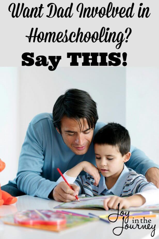 The answer to getting dad involved in homeschooling is pretty simple really. It is only two words, and you'll never believe what they are!