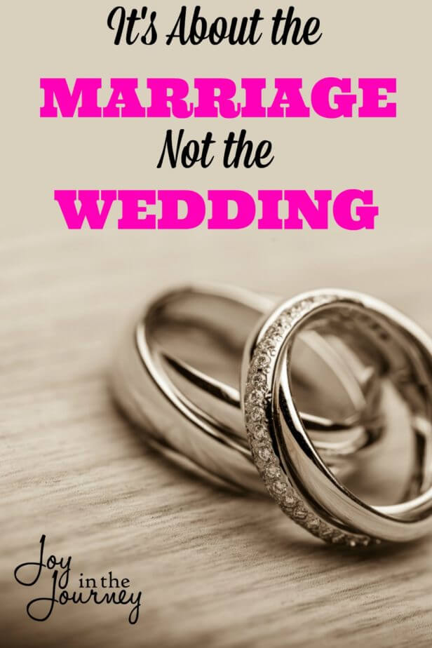 One thing that I believe we forget when we are dreaming of our perfect day is it's not about the wedding. It's about the marriage.