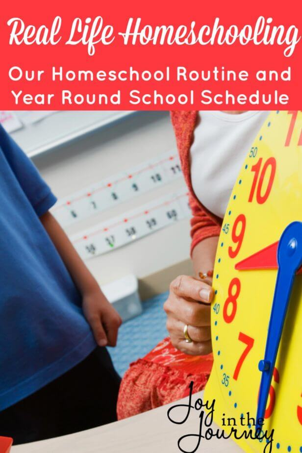 Want real life homeschooling? I'm sharing our real life homeschool routine and year round homeschool schedule