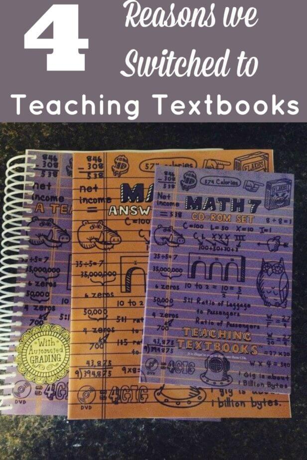 Math was a disaster until we found teaching textbooks. Here are 4 reasons why we switched to teaching textbooks and why you may love it too!