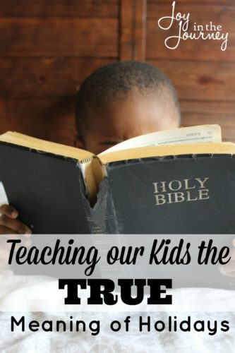 I want my children to know the TRUE meaning of the holidays. And that has nothing to do with pumpkins, turkeys or Santa Clause. However, doing this takes dedication, it takes time, and it takes resources.