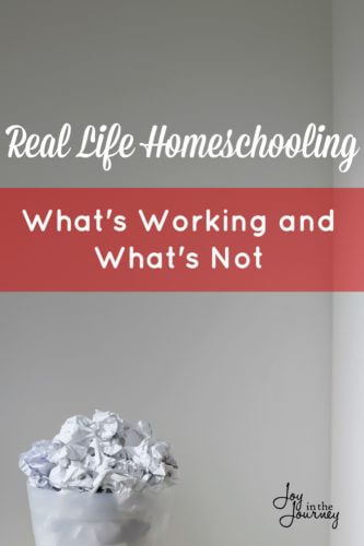 What's working and what's not in our homeschool? I share what we are liking and not liking so far AND how you can evaluate what's working and what's not working in your homeschool.