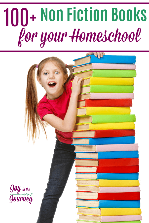 A list of great non-fiction books for your homeschool. As homeschool moms, our primary focus is to educate our children. So, here are 100 non-fiction books for your homeschool.