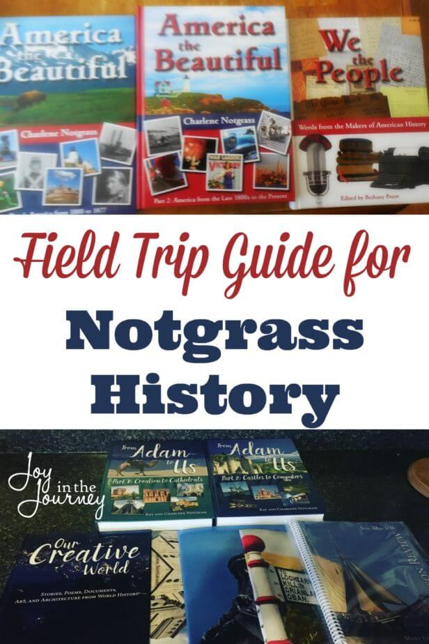 Want to know more about the places you can visit while studying Notgrass History? Check out this field trip guide for Notgrass History.