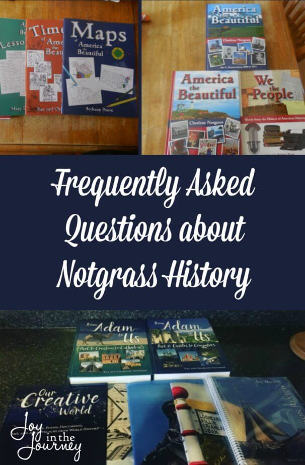 Because I've raved over Notgrass History so often on social media and here on the blog I have had a lot of people ask me questions about it. So, I wanted to have one place where I can address the questions about Notgrass History.