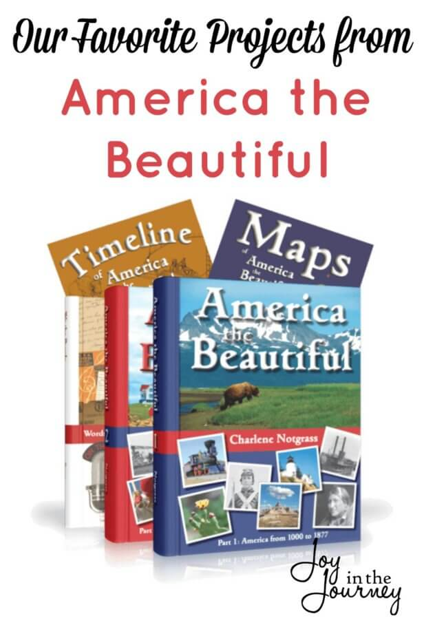 These are our favorite projects from America the Beautiful. While studying America the Beautiful, the whole family was able to learn and enjoy many of the projects.