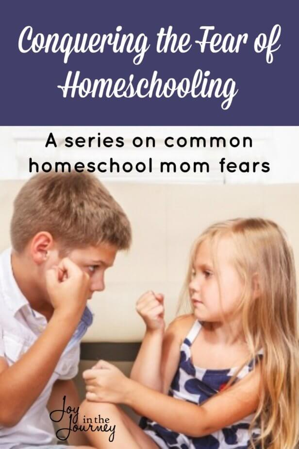 Homeschool mom fears, we all have them. But why? They steal our joy, make us doubt our ability, and leave us feeling less than we are. But, it doesn't have to be this way. Let's conquer the fear of homeschooling together.