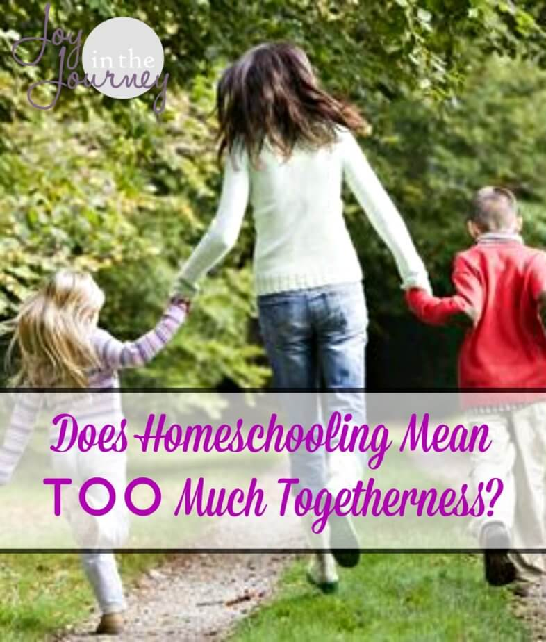 Have you feared homeschooling because you thought it meant too much togetherness? I mean being together ALL the time can't be good for a family right? Let's find out!