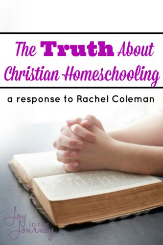 Want to know the truth about Christian homeschooling? It's not what some believe. We aren't out to brainwash our children, and know we aren't trying to abuse them and shelter them from the world. The truth may surprise you.
