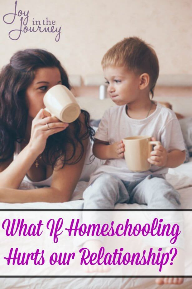 One homeschooling fear many moms have is the fear that it will ruin the relationship they have with their children. Let's face this fear of homeschooling together and find ways to overcome it.