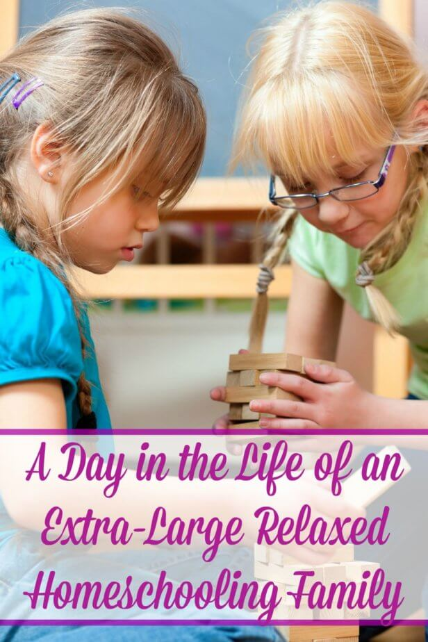Ever wondered what life was like in a relaxed homeschool? Take a look at relaxed homeschooling from the eyes of one large family.