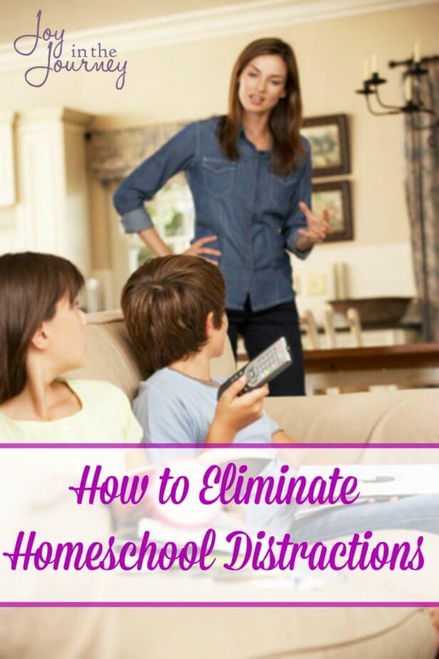 One common struggle homeschool moms have are distractions. Whether these homeschool distractions come from younger kids, the phone or even the husband we have to find a way to overcome them and get school done! Here are some tips that can help!