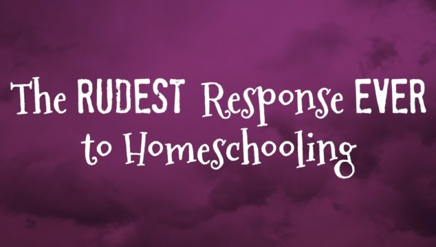 The Rudest Response I've Ever Had to Homeschooling