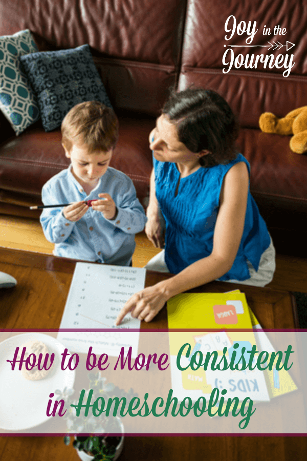 Do you long for a better homeschool day? More consistency, better routine? Here are some ways you can be more consistent in homeschooling.