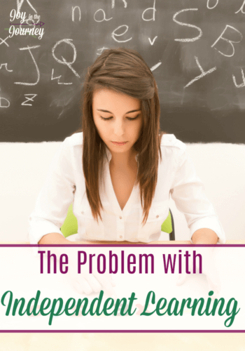 Independent learning is a concept that encourages children to work independently while being homeschooled. But, independent learning isn't foolproof and does come with problems. We're addressing the problems with independent learning and offering some solutions.