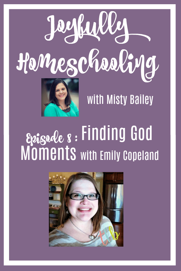 Today's episode is all about how you can take those rough homeschool days, and find God moments in them. Because, believe me, every day, even the bad ones, have God in them. Finding those moments, recognizing them, and embracing them, can help you have more joy in your homeschool!