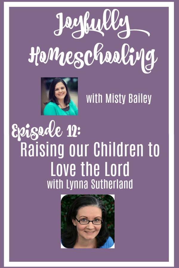 Christian parenting is not for the faint of heart. In a world that tells our kids everything a Christian is not, we need to be able to point them back to the Lord. Let's learn how to raise our children to love the Lord with Lynna Sutherland.