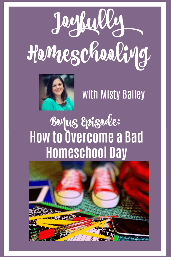 They had a very bad day of school, but with these steps they overcame it, and YOU can too! Having a bad day of school doesn't mean the homeschool year will be a failure, choose joy moms and things will get better!